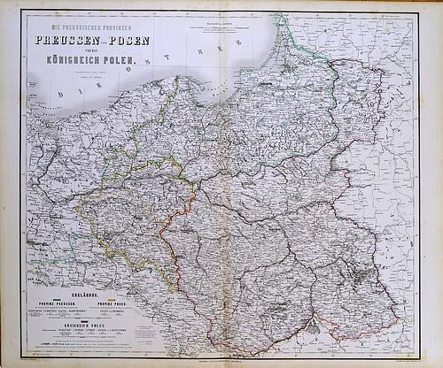 Finnerups Antikvariat Landkort Polen