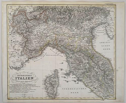 Finnerups Antikvariat Landkort Italien