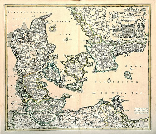 Finnerups Antikvariat Landkort Danmark